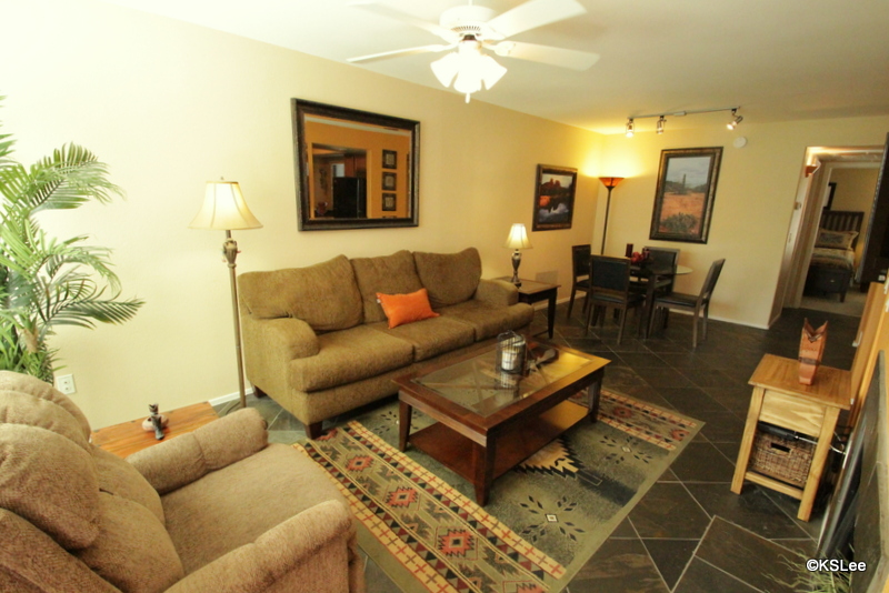 Floor Plan for Two Bedroom, Two Bath, Garden Level Condo in the North East Foothills at the Greens in Ventana Canyon