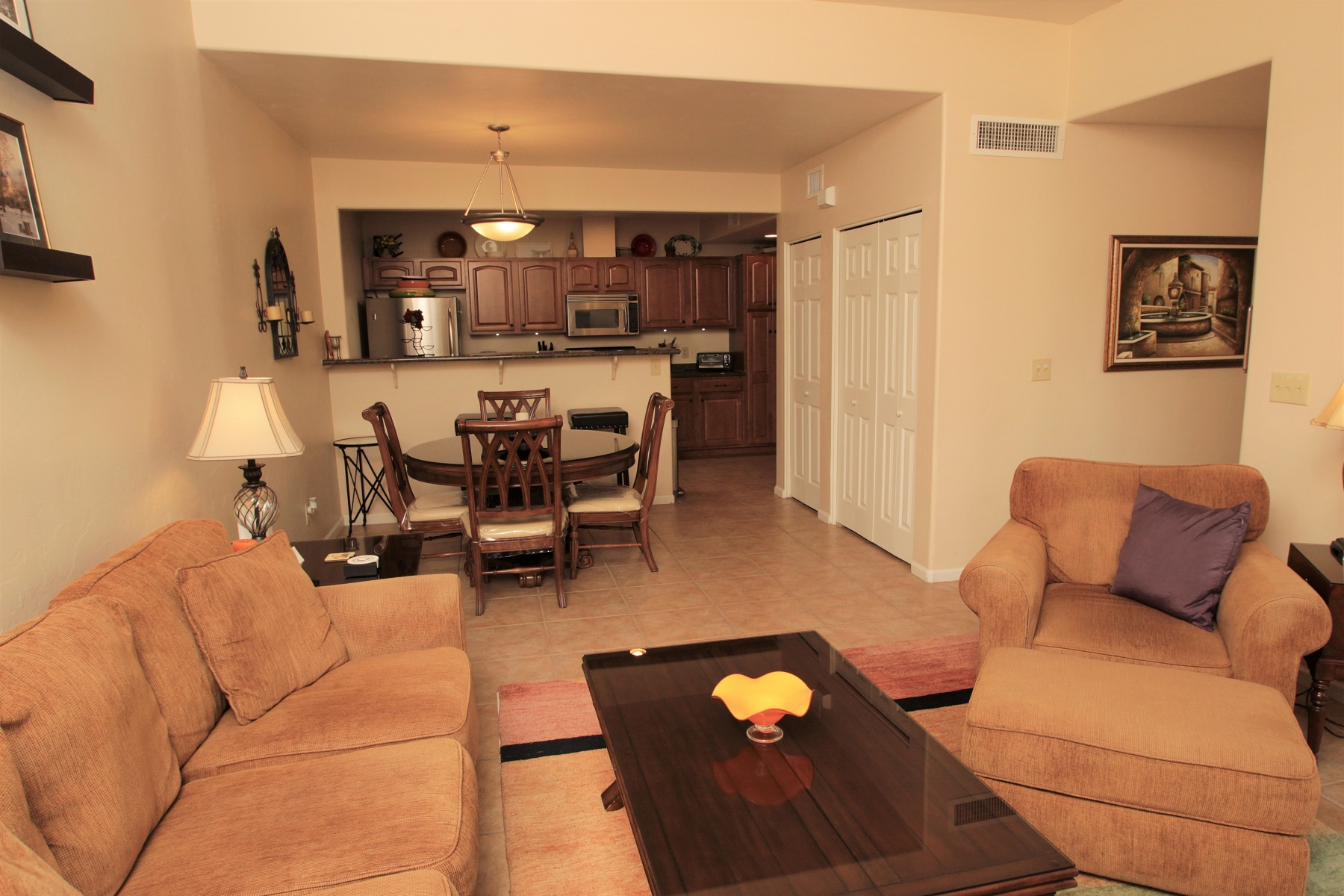 Floor Plan for Spacious Two Bedroom, Two Bath, Garden Level Condo With Enclosed Patio at The Reflections in the Catalinas