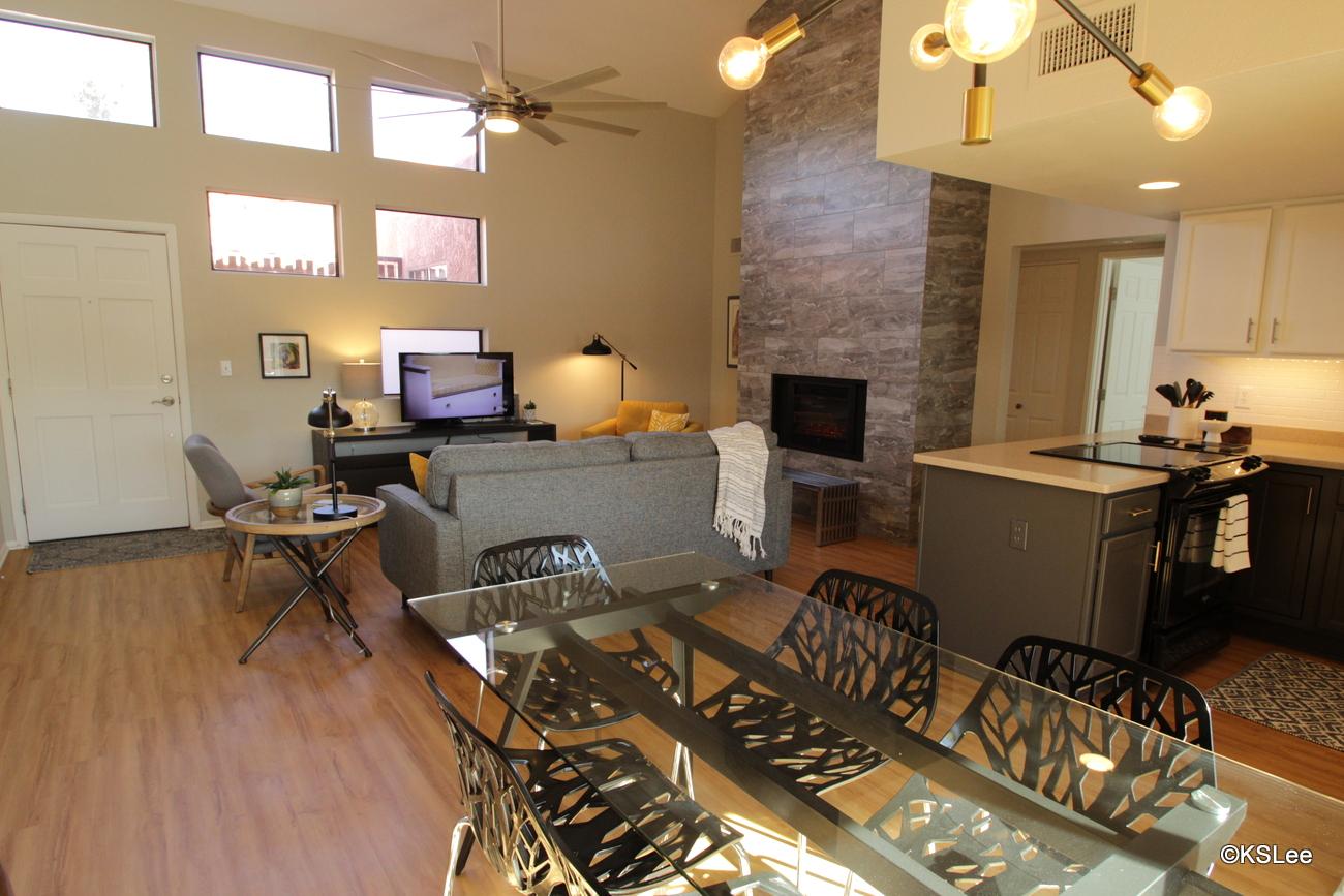 Floor Plan for Upper Level, Two Bedroom, Two Bath Condo at Ventana Vista