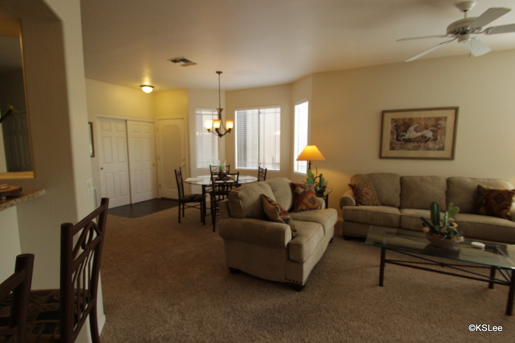 Floor Plan for Spacious, Ground Level, Three Bedroom, Two Bath Casitas in Oro Valley